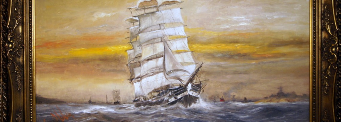 Vernissage. Åpning av maritim kunstutstilling Galleri Hestman